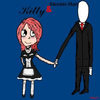 Kitty and Slender-Man by Albme94