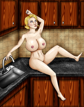 In the kitchen by classy-dame