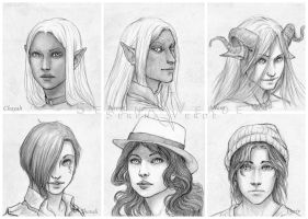 Portrait Commission: fifth batch by SerenaVerdeArt