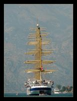 Royal Clipper On Water Of Kotor Bay - Montenegro by skarzynscy