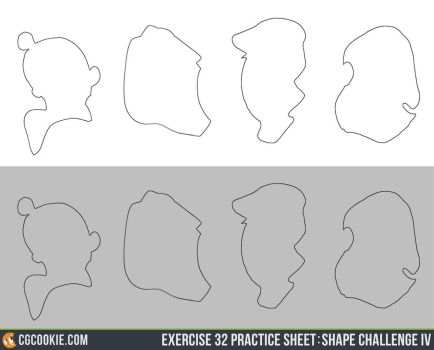 Exercise 32 Practice Sheet: Shape Challenge IV by CGCookie