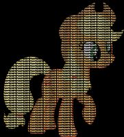 MLP:FiM Worded: AppleJack by AtomicAzure