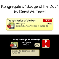 "Kongregate: ""Badge of the Day"" by Donutmtoazt"