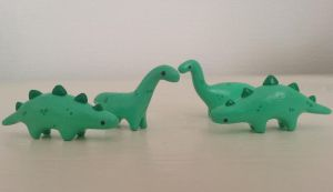 Cute miniature handmade polymer clay dinosaurs by Knuckers-Hollow