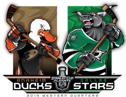 NHL-PLAYOFFS-Rd 1 Ducks vs. Stars by Epoole88