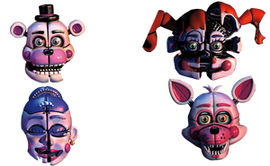 Funtime Faces (from SL 2018 Calendar) Transparent by Some-Crappy-Edits