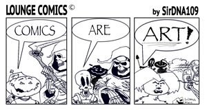Comics Are Art! 01 (B and W) by SirDNA109