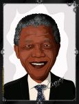 Nelson Mandela Cartoon by Cuervex