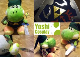 Yoshi cosplaying as Link by balvana