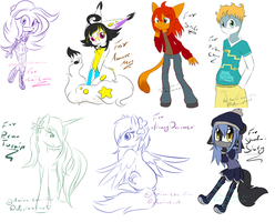 Pay-what-you-want doodle batch 1 by Anira-the-Fox