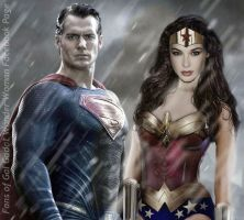 The Man of Steel and the Amazon Princess by renstar71