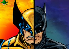 Wolverine VS Batman by Madboy-Art
