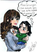 Toddler Snape and Hermione by Shadowtat