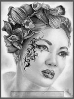 Graphite Blossom by pbird12