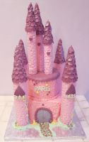 Princess Castle Cake by TreeseRB