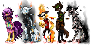 Halloween Adopt Batch 1 AUCTION PENDING by sariasong64
