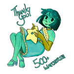 Thank you!!!! 500 Watchers by PoppyMori