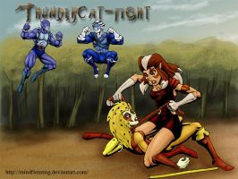 Thunder Catfight by mindflenzing