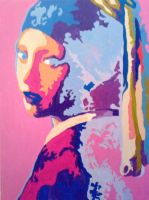 abstract pearl earring 2008 by richardsymonsart