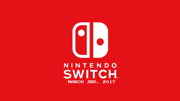 Nintendo Switch Wallpaper (With Launch Date) by TheWolfBunny