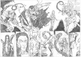 The Darkness Sample - Pages 3 and 4 - A2 pencil by IgorChakal