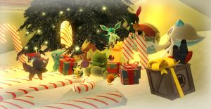 pokemon christmas by VICTOR2012