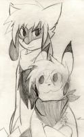 Daniel The Pikachu And Tony The Riolu by Zander-The-Artist