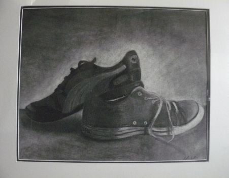 College Artwork 2: Shoes by darknessriver