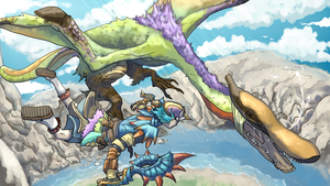 MH3U - Qurupeco Battle (Monster Hunter) by Gabbybites