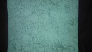 sonic and friends.right left up down and allaround by trunks24