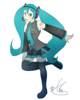Disney Miku by Kiwi-Heart
