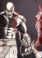 Kratos -GOW by DW-DeathWisH