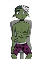 Enjured BeastBoy-in a hospital by bbfan77