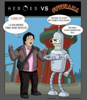Heroes VS Futurama by Veinctor