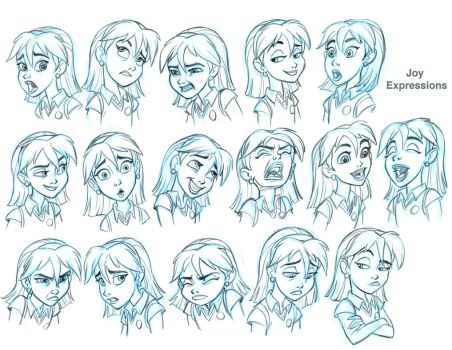 Joy Expressions model sheet for SB by tombancroft