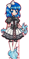 Noku Lolita Design [COMMISSION] by sekaiichihappy