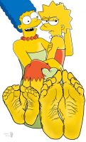 Marge and Lisa Simpson's soles by Solesartist