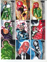 Some marvel Sketch Cards by TheAdrianNelson
