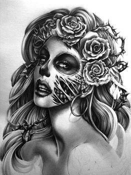 Querida Muerta Revisited WIP by R-becca