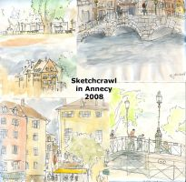 Sketchcrawl in Annecy by Yetska