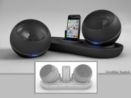 iPod Dock 3D by GeriEspinal