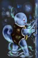 Squirtle and the magic of water by shadowind98