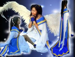 belldandy triple goddess by miyaca