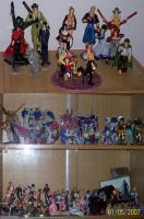 My gundams and action figures by narkAlmasy