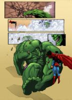 Hulk vs Superman by wilson-go