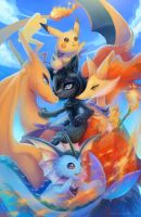 Pokemon Team Commission for theblackvixen by eldrige