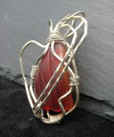 Red Seaglass Pendant by andrewk1969