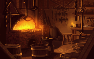 Blacksmith's Shop by Zanariya