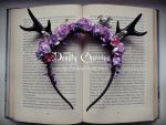 deer horns headband MY WONDERLAND by CountessAudronasha