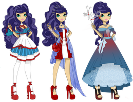 Genevieve North 3 styles by starfirerencarnacion